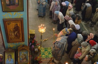 Всенощное бдение в Казанском соборе (13 октября 2014 года).
