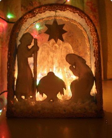 Рождественский вертеп своими руками мастер класс