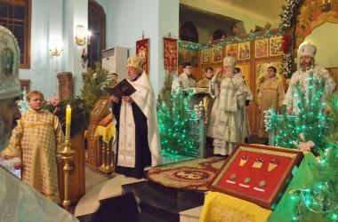 Великая Вечерня в Свято-Духовом монастыре 9 января 2015 года