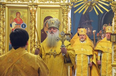 Литургия в Казанском соборе. 8 февраля 2015 года.