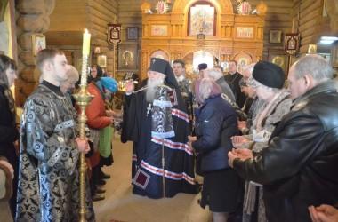 Литургия Преждеосвященных Даров в Свято-Преображенском храме. 11 марта 2015 года.