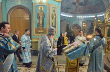 Утреня с чтением акафиста в Казанском соборе. 27 марта 2015 года.