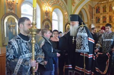 Литургия Преждеосвященных Даров в Свято-Никольском  храме. 18 марта 2015 года.