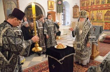 Литургия Преждеосвященных Даров в храме святого пророка Иоанна Предтечи. 27 февраля 2015 года.