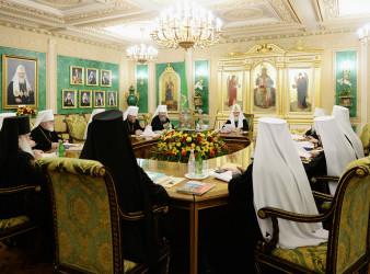В Москве завершилось заседание Священного Синода Русской Православной Церкви