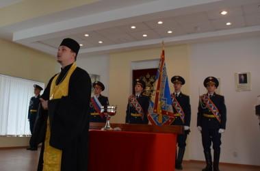 Иерей Евгений Караваев освятил знамя УФСИН России по Волгоградской области