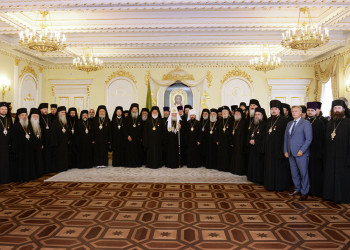 Состоялась встреча Святейшего Патриарха Кирилла с делегациями Поместных Православных Церквей, прибывшими на празднование в честь равноапостольного князя Владимира