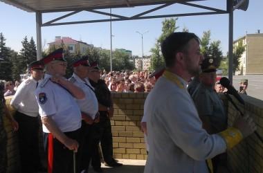 Казаки СКО «Благовещенская станица», поступившие на срочную военную службу, приняли присягу