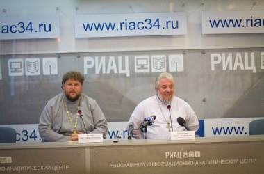 В Региональном информационно-аналитическом центре состоялась пресс-конференция, посвящённая прибытию в Волгоград ковчега с мощами святого князя Владимира
