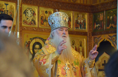 11 ноября митрополит Волгоградский и Камышинский Герман совершил богослужение в Свято-Духовом монастыре