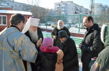 Двадцать первого февраля митрополит Волгоградский и Камышинский Герман совершил Божественную литургию в Казанском соборе