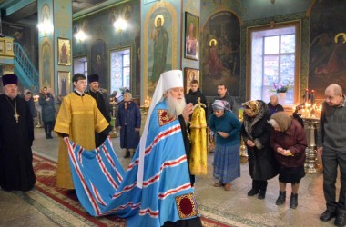 Двадцать седьмого февраля митрополит Волгоградский и Камышинский Герман совершил Всенощное бдение в Казанском соборе