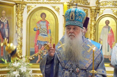 Двадцатого февраля митрополит Волгоградский и Камышинский Герман совершил Всенощное бдение в Казанском соборе