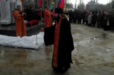 Лития о невинно убиенных мирных жителях и защитниках Сталинграда совершена у братской могилы