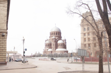 В рамках православной выставки протоиерей Вячеслав Жебелев сделал доклад о воссоздании Александро-Невского собора