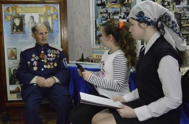 Воспитанники воскресной школы «Вдохновение» встретились с участником Сталинградской битвы