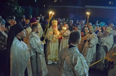 В праздник Пасхи митрополит Волгоградский и Камышинский Герман совершил праздничное богослужение в Казанском соборе