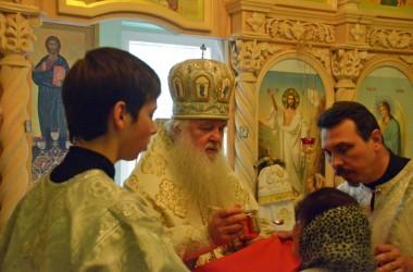 Богослужение в часовне святителя Луки Симферопольского