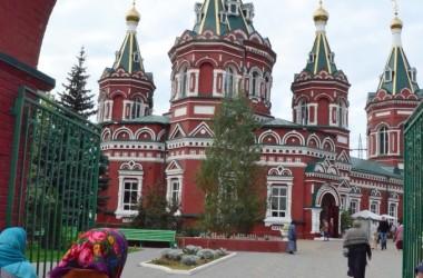 Божественная литургия в соборе Казанской иконы Божией Матери