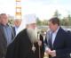 Андрей Бочаров и митрополит Герман посетили стройплощадку храма Александра Невского