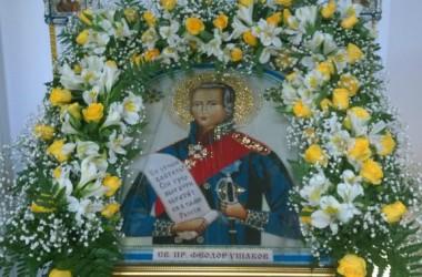 Престольный праздник прошел в храме Феодора Ушакова