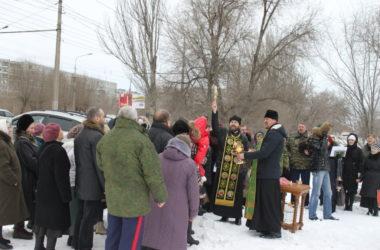 Состоялся молебен на месте будущего храма в честь Ксении Петербургской