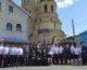 Церемония освящения знамени Благовещенской станицы