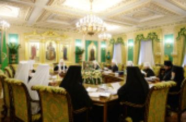 В Патриаршей резиденции в Даниловом монастыре прошло заседание Священного Синода Русской Православной Церкви