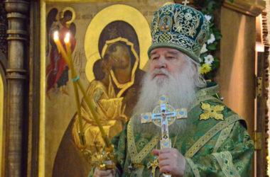 Божественная литургия в день престольного праздника храма святого преподобного Сергия Радонежского