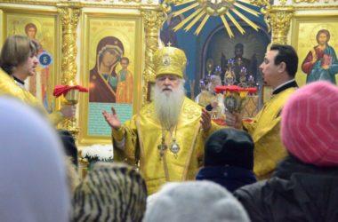 Божественная литургия  в Казанском соборе В Неделю 29-ю по Пятидесятнице