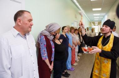 Состоялось освящение родильного дома городской больницы скорой помощи №7