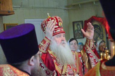 Божественная литургия в храме Иннокентия Московского