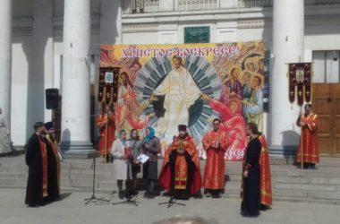 Пасхальный крестный ход в Тракторозаводском районе Волгограда
