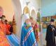Божественная литургия в храме иконы Пресвятой Богородицы «Нечаянная Радость»