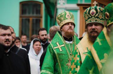 Епископ Городищенский Феоктист принял участие в торжественном богослужении в Троице-Сергиевой лавре