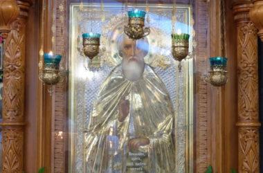 Божественная литургия в день престольного праздника храма Сергия Радонежского