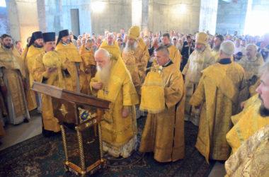 Божественная Литургия в соборе Александра Невского