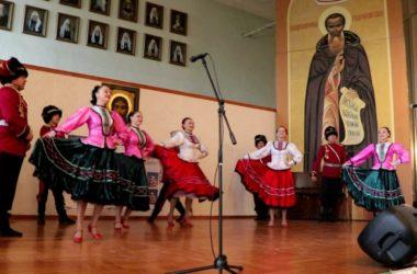 Ансамбль «Казачья воля» выступил в архиерейском зале Волгоградской епархии