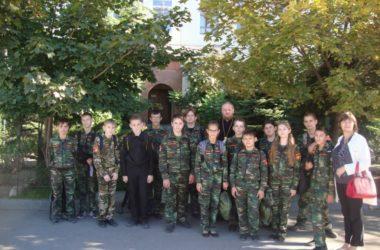 Кадеты волгоградской школы побывали на экскурсии в Свято-Духовом монастыре