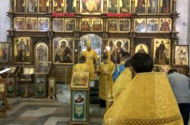 Богослужение в храме преподобного Сергия Радонежского