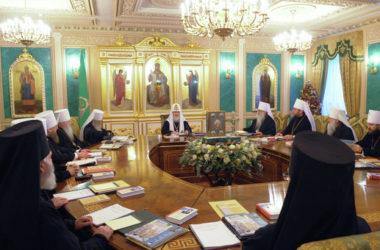 Состоялось последнее в 2018 году заседание Священного Синода Русской Православной Церкви