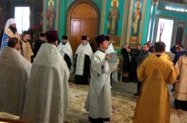 В Волгограде отслужили благодарственный молебен о прибытии митрополита Феодора