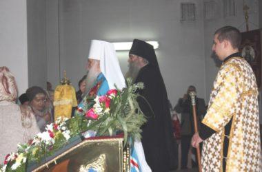 Митрополит Герман совершил прощальную Литургию в храме Иоанна Кронштадского