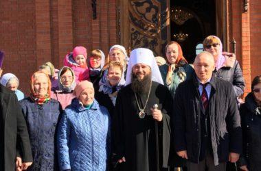 Богослужение в храме «Садов Придонья» собрало сотрудников предприятия и жителей поселка