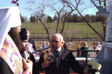Владыка Феодор принял участие в открытии навигации на Волго-Донском канале