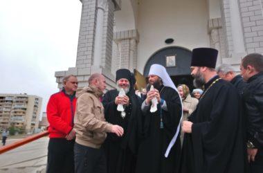 Праздник Благовещения Пресвятой Богородицы в храме Иоанна Богослова города Волжского