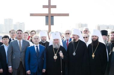 Архиереи Русской Православной Церкви заложили храм во имя Всех святых в земле Казахстанской просиявших