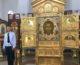 Видеосъемка из храма на Мамаевом кургане во время пребывания главной иконы Вооруженных сил России