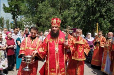 Митрополит Феодор возглавил Божественную литургию в праздник третьего обретения главы Иоанна Предтечи