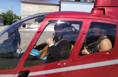 Воздушный Крестный ход над Урюпинском совершили три архиерея Волгоградской митрополии